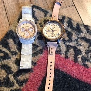 Bundle of fossil watches.